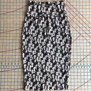 Vintage Esprit Sport Knit Pencil Skirt M 😎